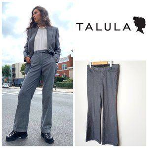 ARITZIA TALULA Grey Wide Leg Cuffed Trouse…